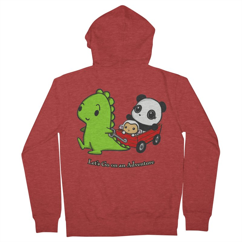 Wagon Ride Women's Zip-Up Hoody by Dino & Panda Inc Artist Shop