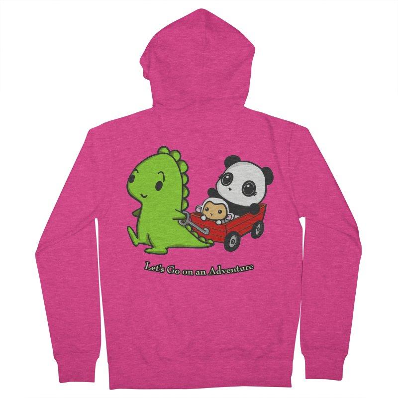 Wagon Ride Women's Zip-Up Hoody by Dino & Panda Inc Artist Shop