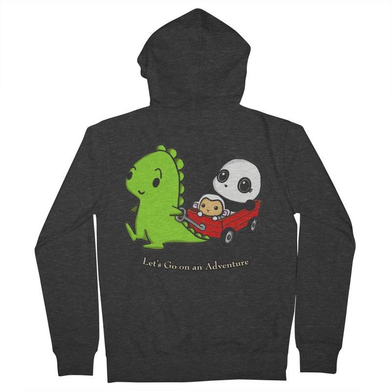 Wagon Ride Men's Zip-Up Hoody by Dino & Panda Inc Artist Shop