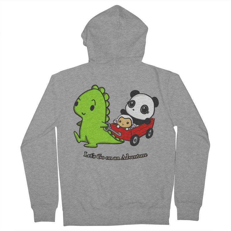 Wagon Ride Men's Zip-Up Hoody by Dino & Panda Inc Artist Shop