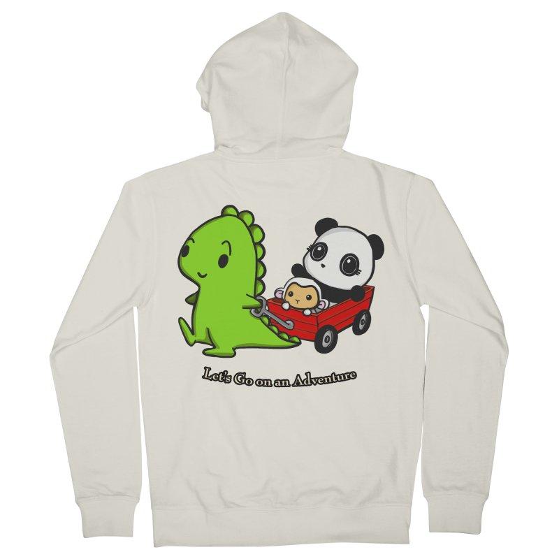 Wagon Ride Men's French Terry Zip-Up Hoody by Dino & Panda Inc Artist Shop