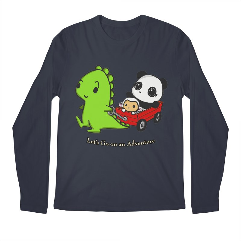 Wagon Ride Men's Regular Longsleeve T-Shirt by Dino & Panda Inc Artist Shop