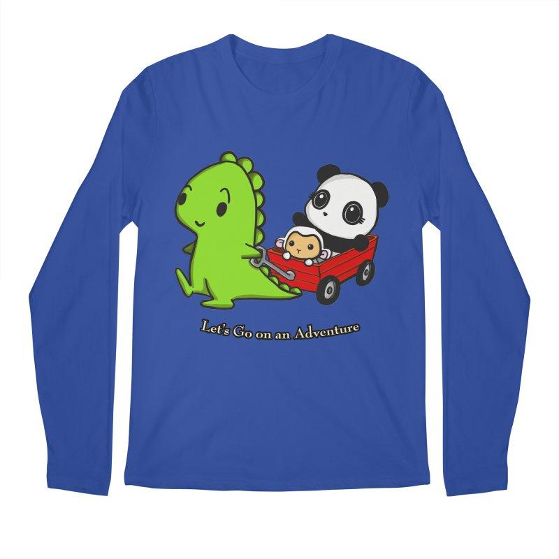 Wagon Ride Men's Longsleeve T-Shirt by Dino & Panda Inc Artist Shop