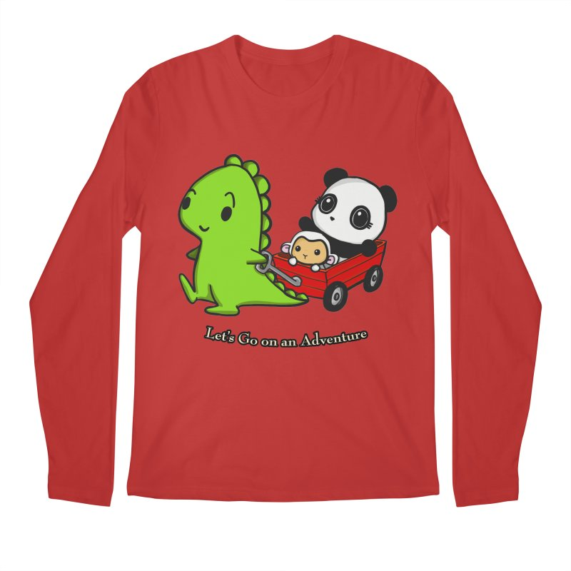 Wagon Ride Men's Regular Longsleeve T-Shirt by Dino & Panda Inc Artist Shop