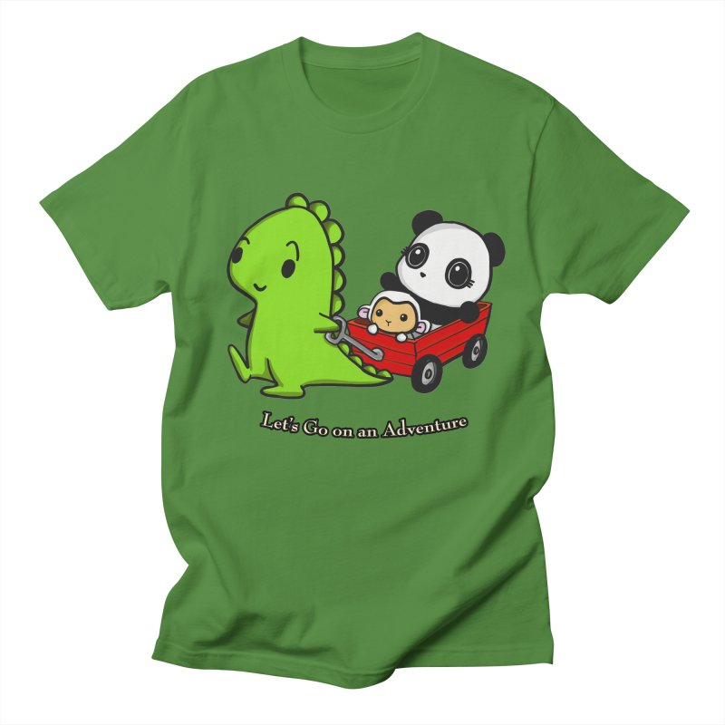 Wagon Ride Men's Regular T-Shirt by Dino & Panda Inc Artist Shop