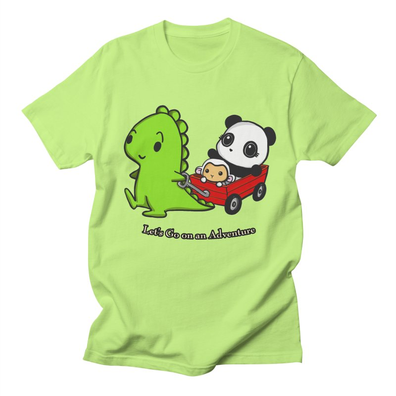 Wagon Ride Women's Regular Unisex T-Shirt by Dino & Panda Inc Artist Shop