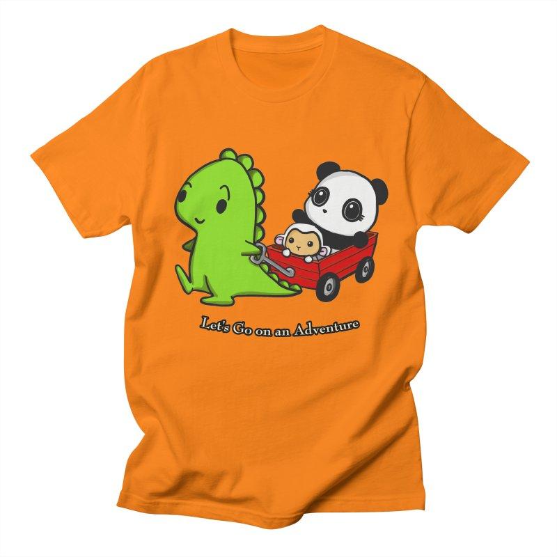 Wagon Ride Men's Regular T-Shirt by Dino & Panda Inc Artist Shop