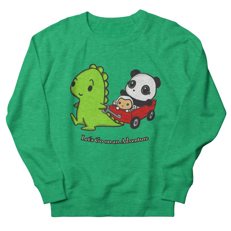 Wagon Ride Women's French Terry Sweatshirt by Dino & Panda Inc Artist Shop