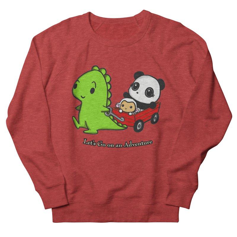 Wagon Ride Women's French Terry Sweatshirt by Dino & Panda Inc Artist Shop