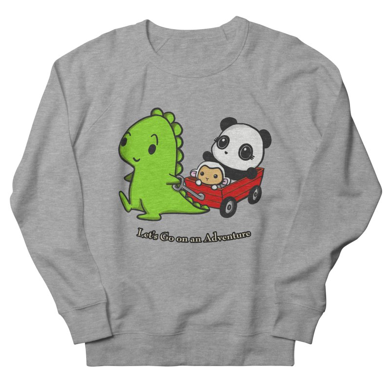 Wagon Ride Men's Sweatshirt by Dino & Panda Inc Artist Shop