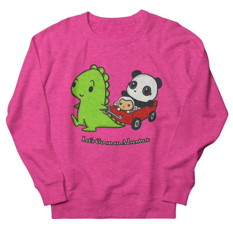 Wagon Ride Men's French Terry Sweatshirt by Dino & Panda Inc Artist Shop