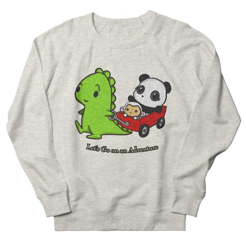 Wagon Ride Men's French Terry Sweatshirt by Dino & Panda Inc Artist Shop