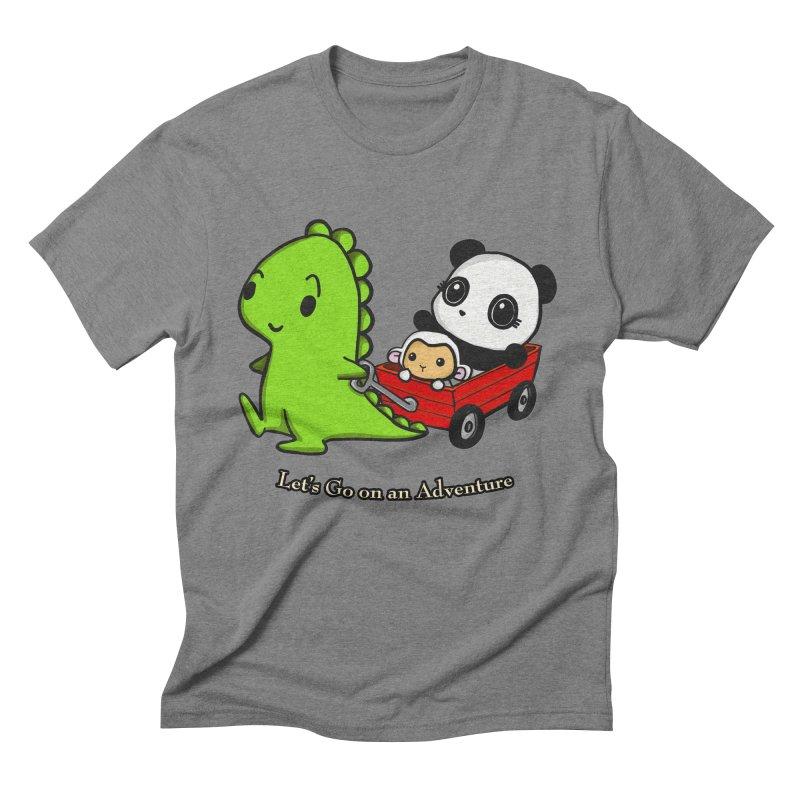 Wagon Ride Men's Triblend T-Shirt by Dino & Panda Inc Artist Shop
