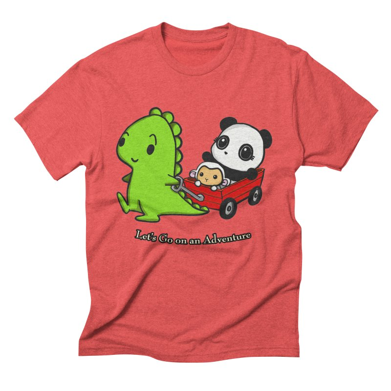 Wagon Ride Men's Triblend T-Shirt by Dino & Panda Inc Artist Shop