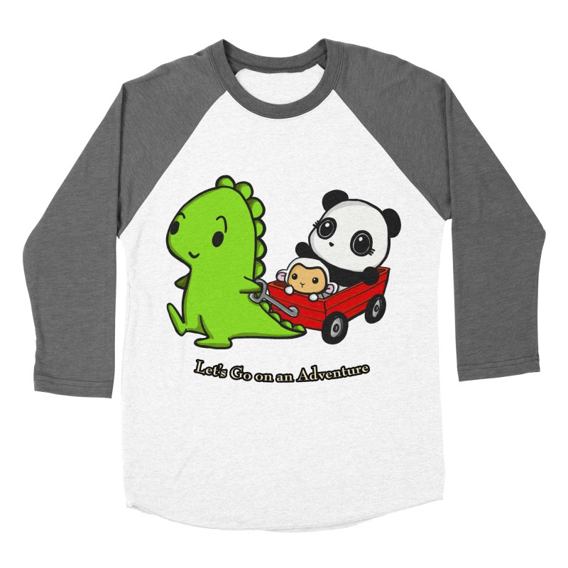 Wagon Ride Women's Baseball Triblend T-Shirt by Dino & Panda Inc Artist Shop
