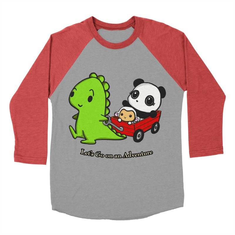 Wagon Ride Women's Baseball Triblend Longsleeve T-Shirt by Dino & Panda Inc Artist Shop