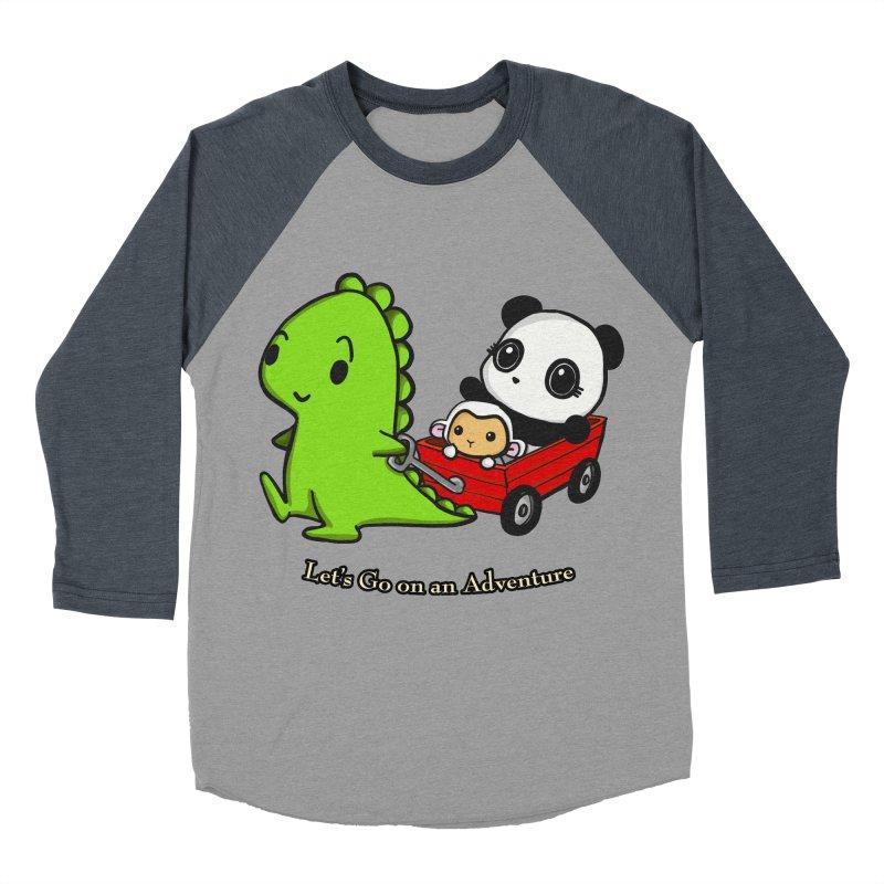 Wagon Ride Women's Baseball Triblend Longsleeve T-Shirt by Dino & Panda Inc Artist Shop