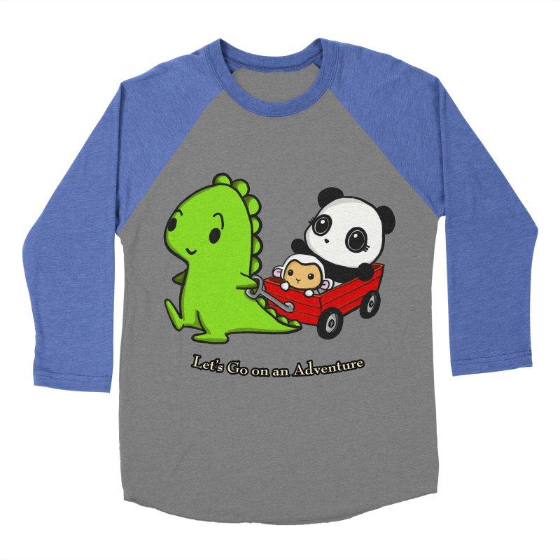 Wagon Ride Men's Baseball Triblend Longsleeve T-Shirt by Dino & Panda Inc Artist Shop