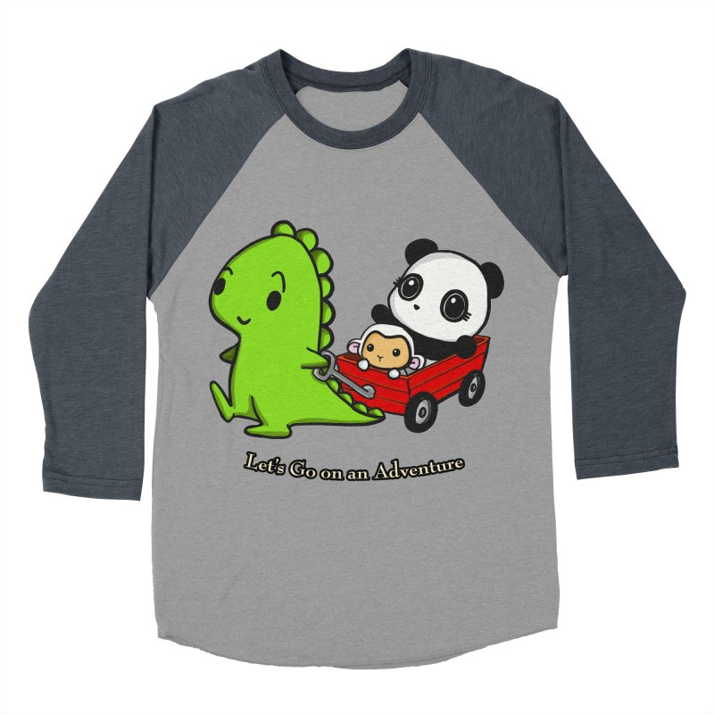 Wagon Ride Men's Baseball Triblend Longsleeve T-Shirt by Dino & Panda Inc Artist Shop