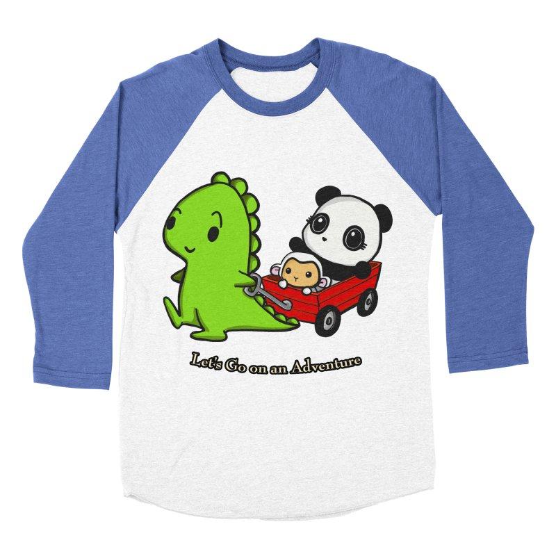 Wagon Ride Men's Baseball Triblend T-Shirt by Dino & Panda Inc Artist Shop