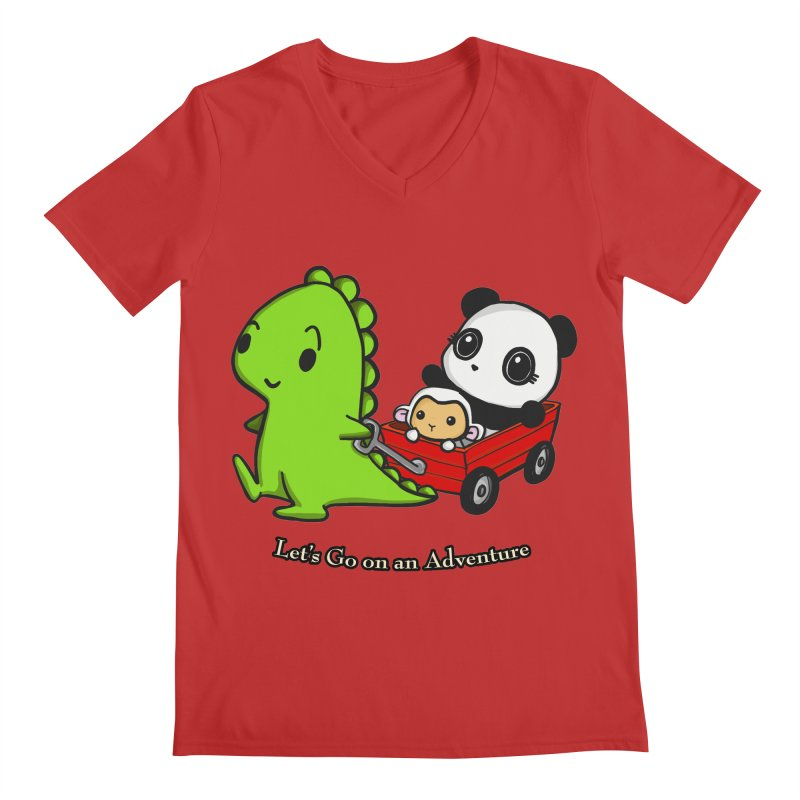 Wagon Ride Men's V-Neck by Dino & Panda Inc Artist Shop