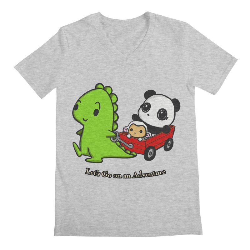 Wagon Ride Men's V-Neck by Dino & Panda Inc Artist Shop