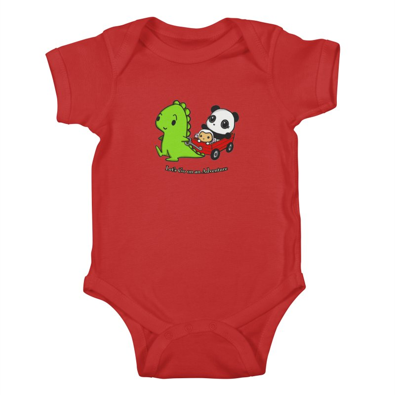 Wagon Ride Kids Baby Bodysuit by Dino & Panda Inc Artist Shop