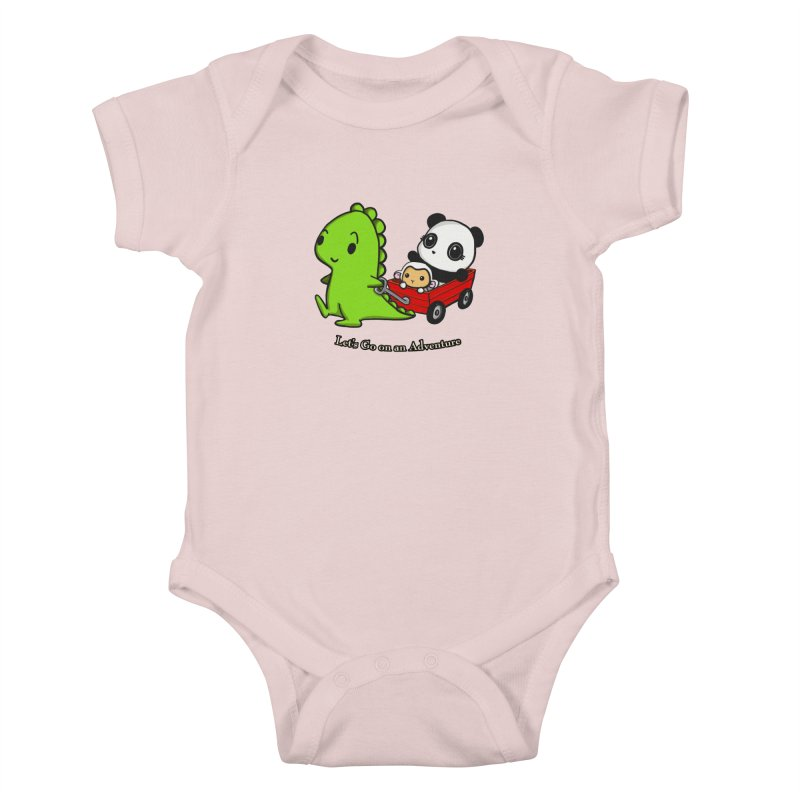Wagon Ride Kids Baby Bodysuit by Dino & Panda Inc Artist Shop