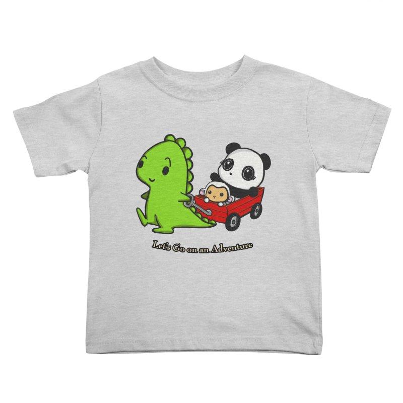 Wagon Ride Kids Toddler T-Shirt by Dino & Panda Inc Artist Shop