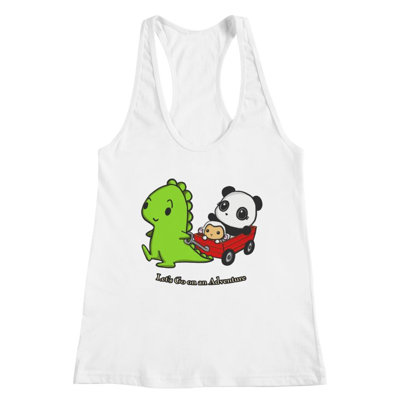 Wagon Ride Women's Tank by Dino & Panda Artist Shop
