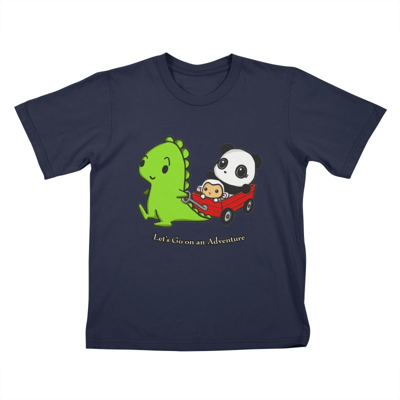 Wagon Ride Kids Toddler T-Shirt by Dino & Panda Inc Artist Shop