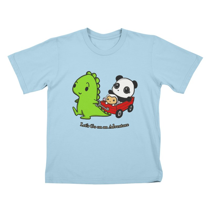 Wagon Ride Kids T-Shirt by Dino & Panda Inc Artist Shop