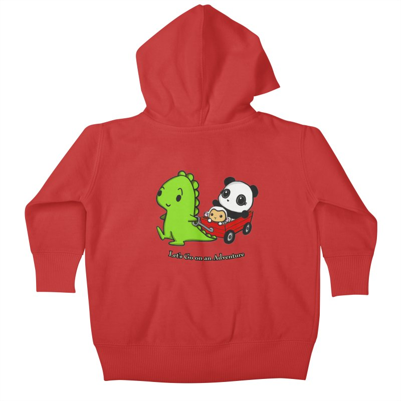 Wagon Ride Kids Baby Zip-Up Hoody by Dino & Panda Inc Artist Shop