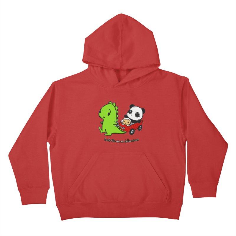 Wagon Ride Kids Pullover Hoody by Dino & Panda Inc Artist Shop