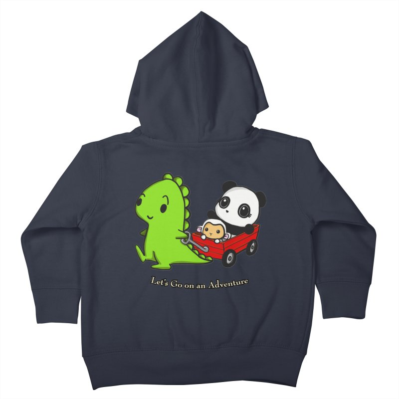 Wagon Ride Kids Toddler Zip-Up Hoody by Dino & Panda Inc Artist Shop