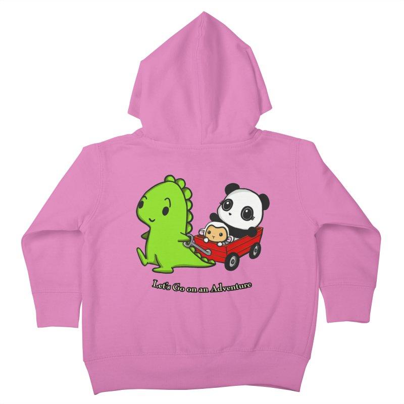 Wagon Ride Kids Toddler Zip-Up Hoody by Dino & Panda Inc Artist Shop