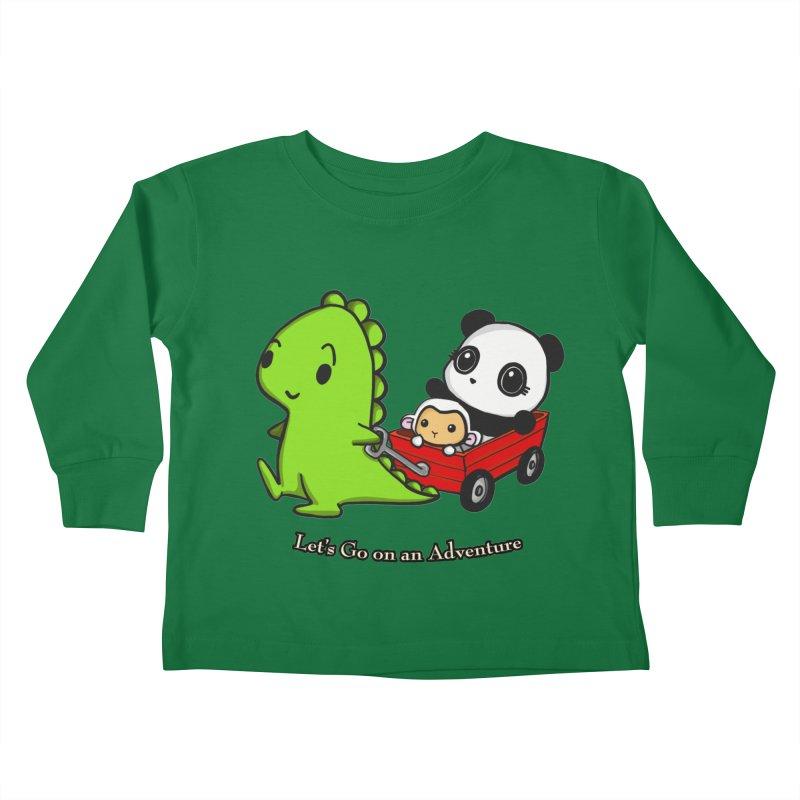 Wagon Ride Kids Toddler Longsleeve T-Shirt by Dino & Panda Inc Artist Shop