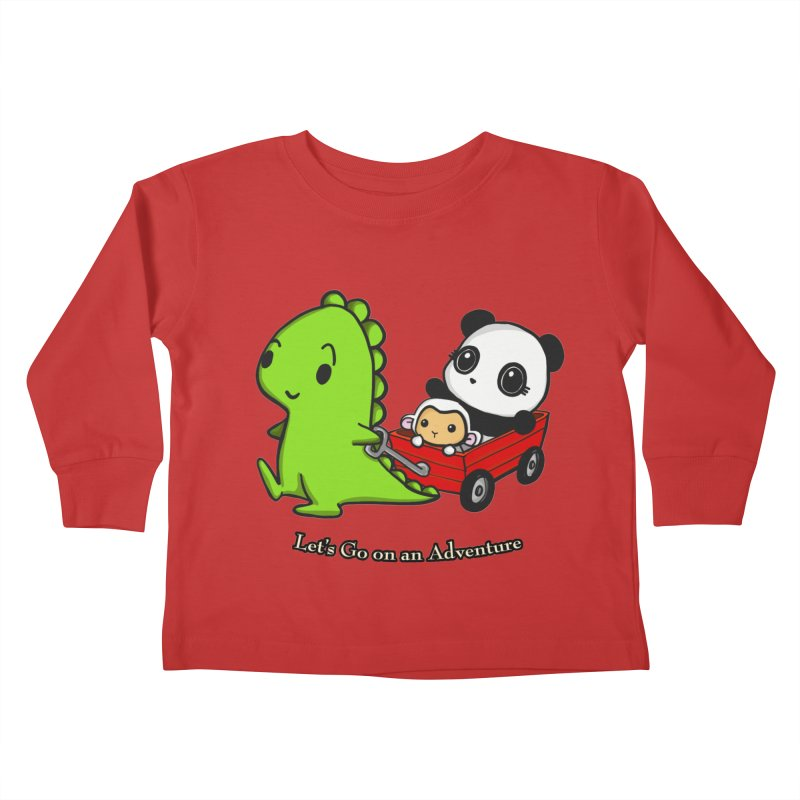 Wagon Ride Kids Toddler Longsleeve T-Shirt by Dino & Panda Inc Artist Shop