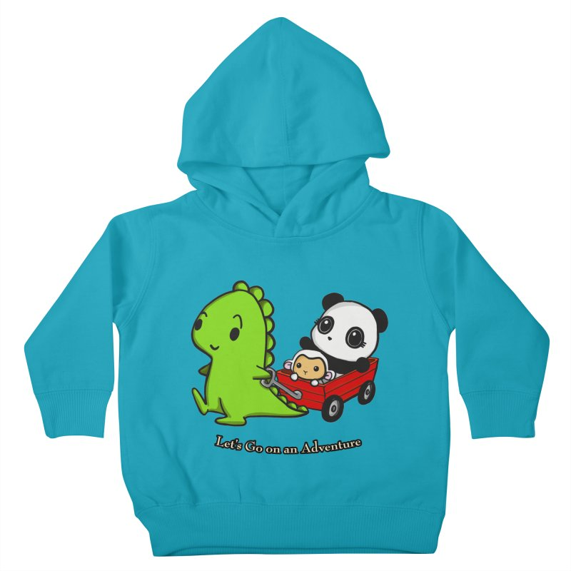 Wagon Ride Kids Toddler Pullover Hoody by Dino & Panda Inc Artist Shop