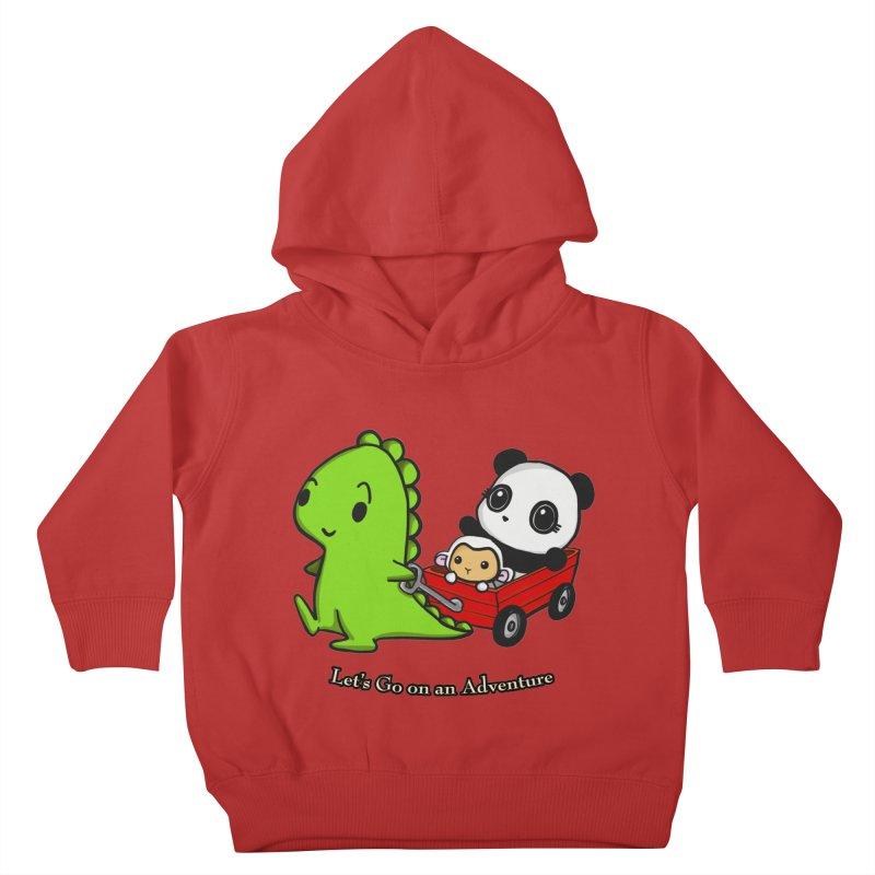 Wagon Ride Kids Toddler Pullover Hoody by Dino & Panda Inc Artist Shop