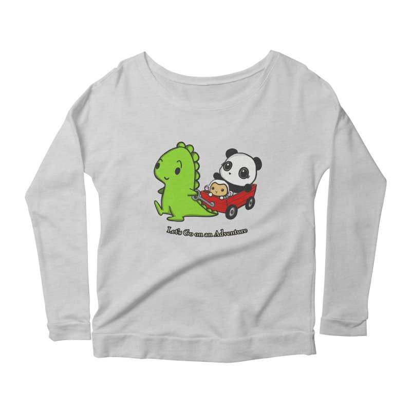 Wagon Ride Women's Scoop Neck Longsleeve T-Shirt by Dino & Panda Inc Artist Shop