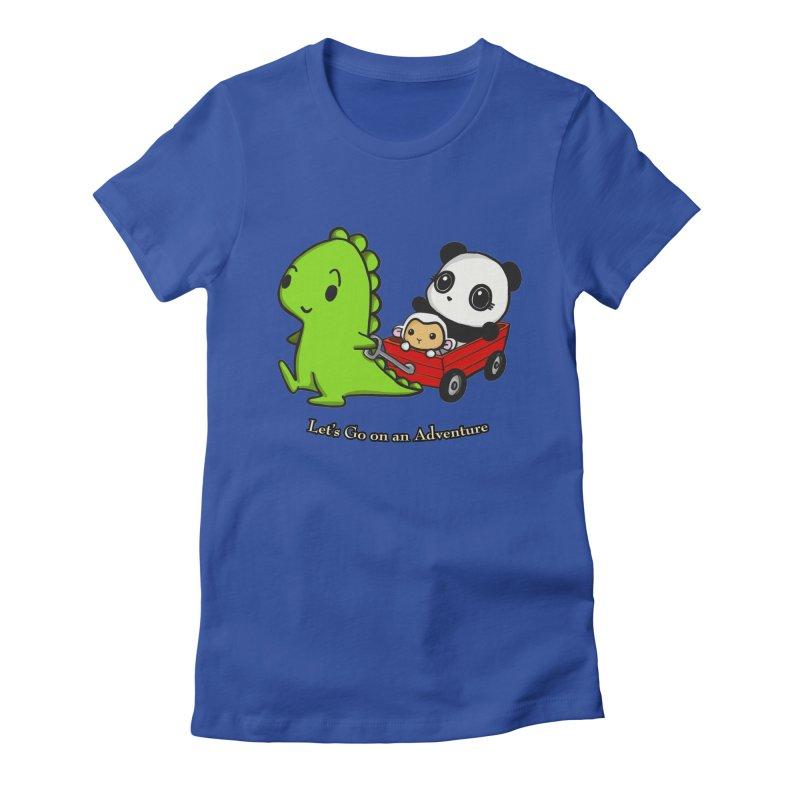Wagon Ride Women's Fitted T-Shirt by Dino & Panda Inc Artist Shop