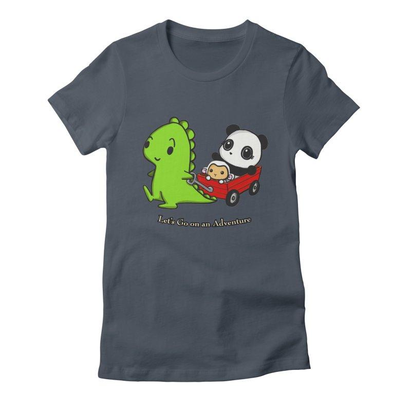 Wagon Ride Women's T-Shirt by Dino & Panda Inc Artist Shop