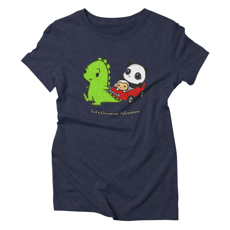 Wagon Ride Women's Triblend T-Shirt by Dino & Panda Inc Artist Shop