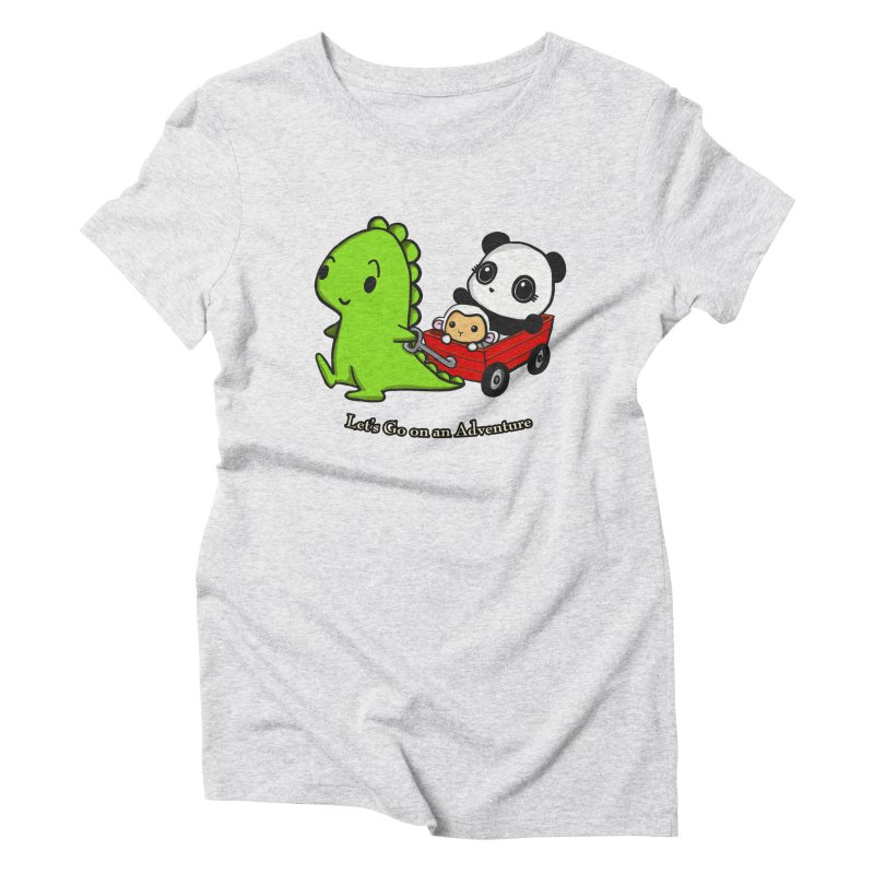 Wagon Ride Women's Triblend T-Shirt by Dino & Panda Inc Artist Shop