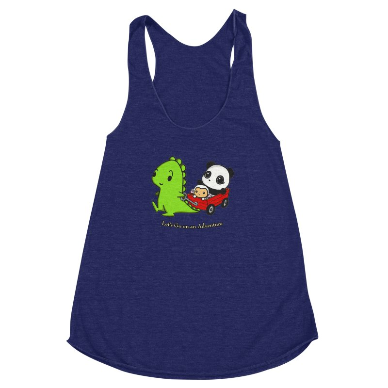 Wagon Ride Women's Racerback Triblend Tank by Dino & Panda Inc Artist Shop