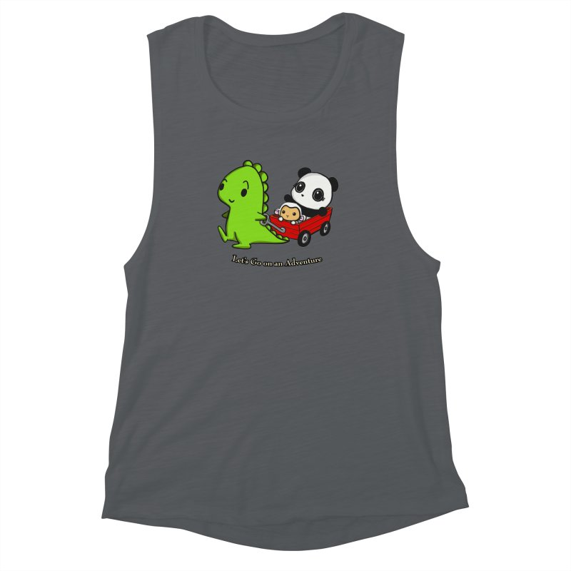 Wagon Ride Women's Muscle Tank by Dino & Panda Inc Artist Shop