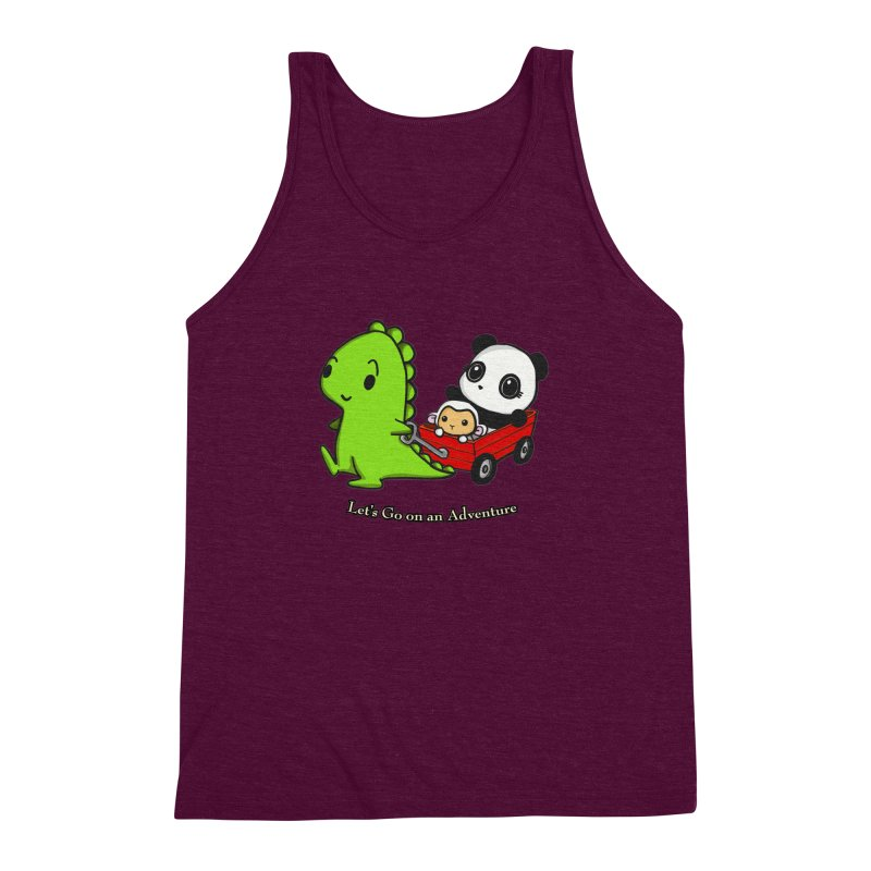 Wagon Ride Men's Triblend Tank by Dino & Panda Inc Artist Shop