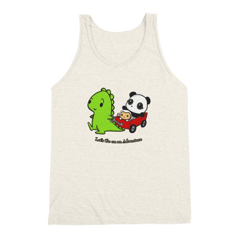 Wagon Ride Men's Triblend Tank by Dino & Panda Inc Artist Shop