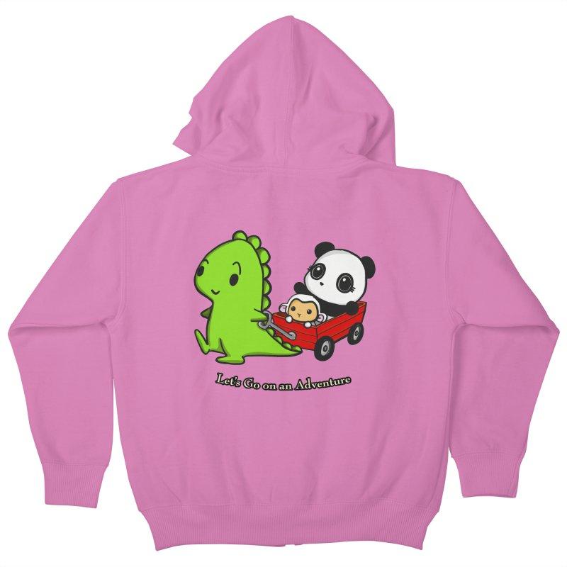 Wagon Ride Kids Zip-Up Hoody by Dino & Panda Inc Artist Shop